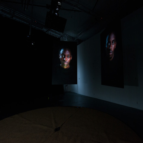 Installation view at Deptford X, London